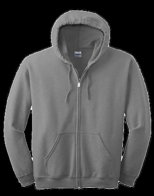 Hoodie clipart zip hoodie. Gildan full