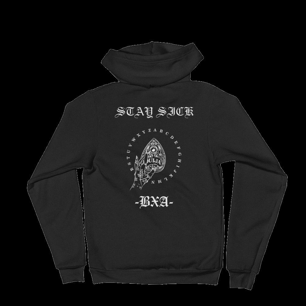 Hoodie clipart zip hoodie. Stay sick black cube