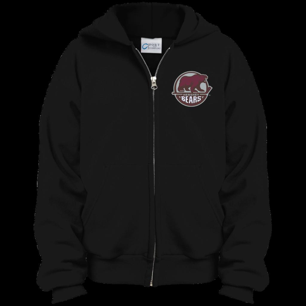 Hershey bears youth embroidered. Hoodie clipart zip hoodie