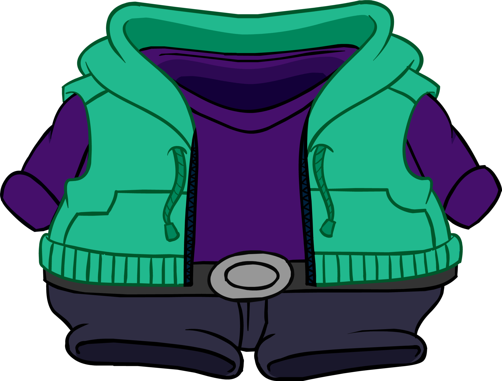 Hoodie clipart zippered. Skate style club penguin