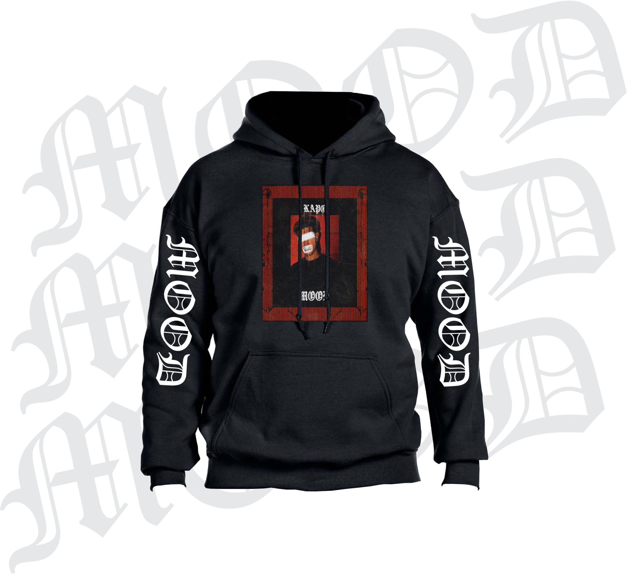 Hoodie clipart zippered. Black mood limited on