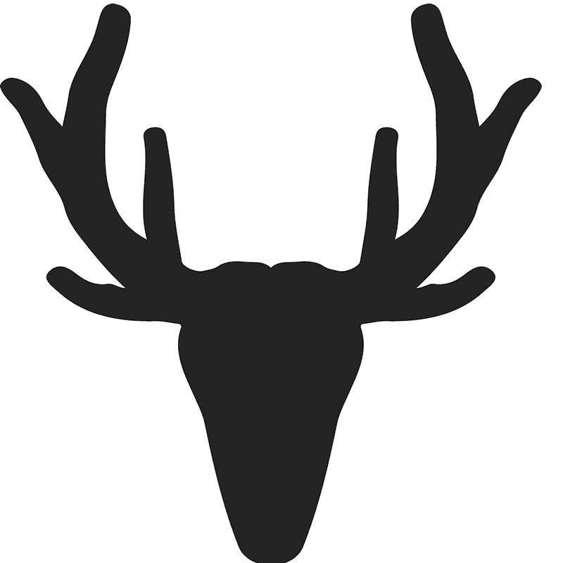 Moose clipart word. Antler silhouette at getdrawings