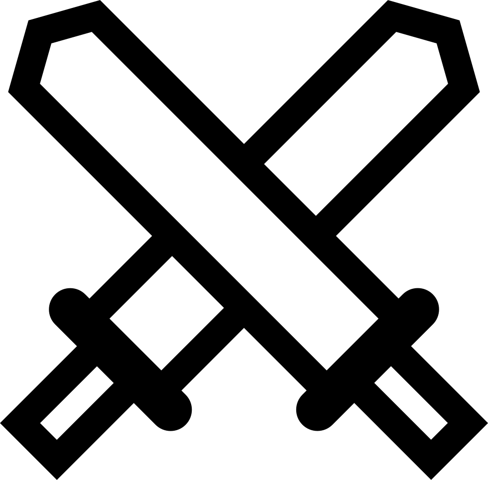 Swords svg png icon. Hook clipart crossed