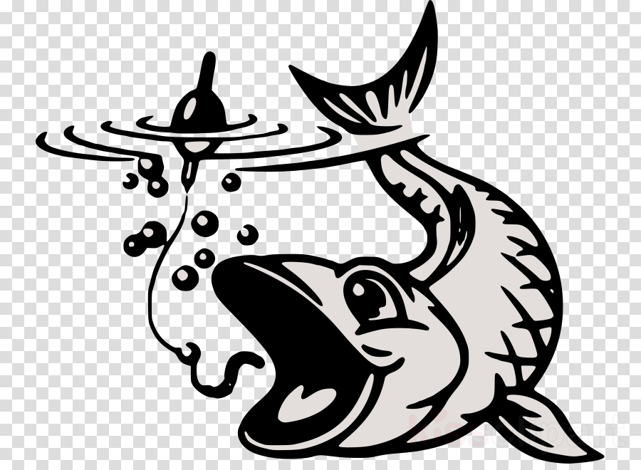 Black line background fishing. Hook clipart fisherman
