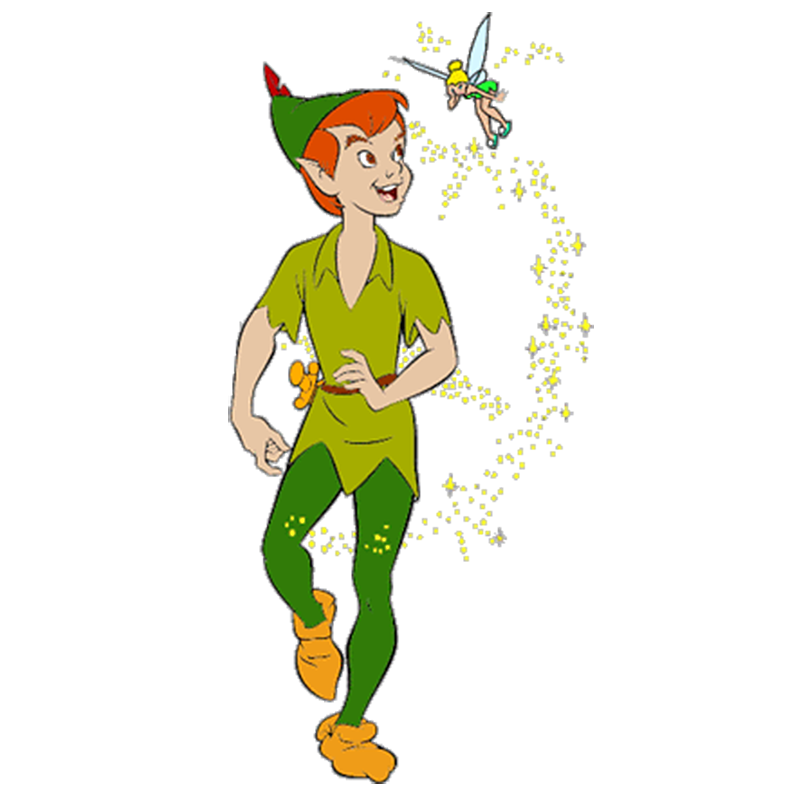 Tinker bell and wendy. Hook clipart peter pan
