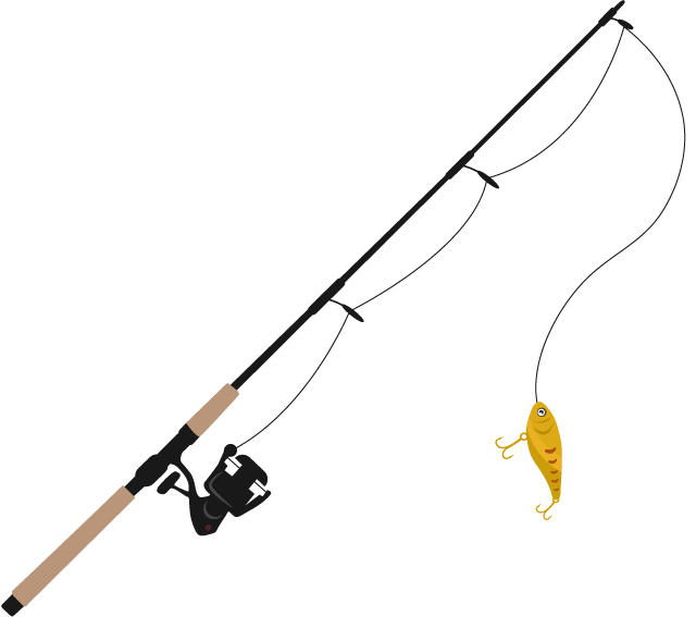 Fishing rod line clip. Hook clipart weapon