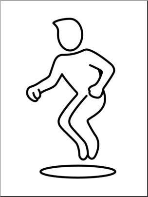 Hop clipart. Clip art simple exercise