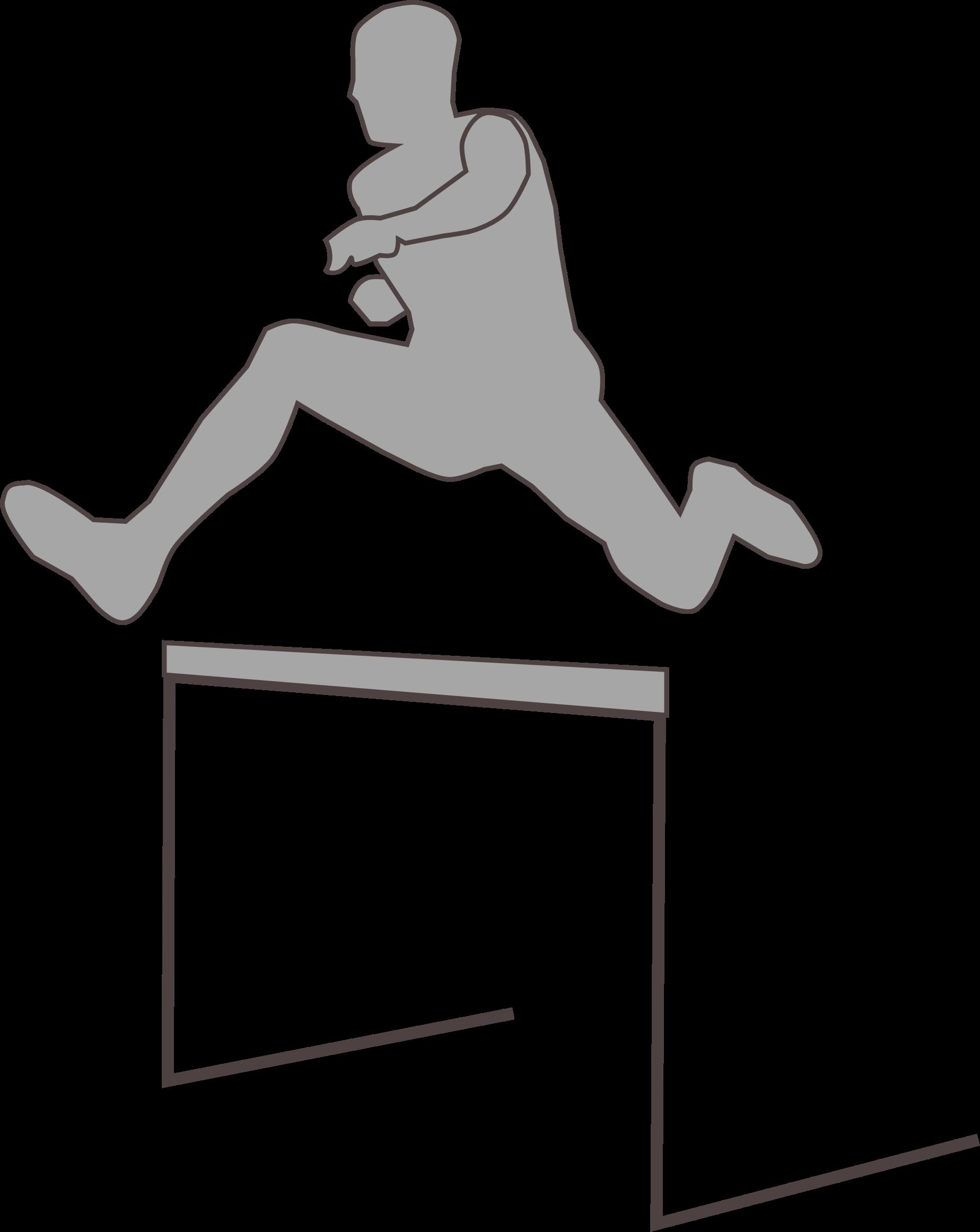 Hurdling silhouette big image. Hop clipart jumping
