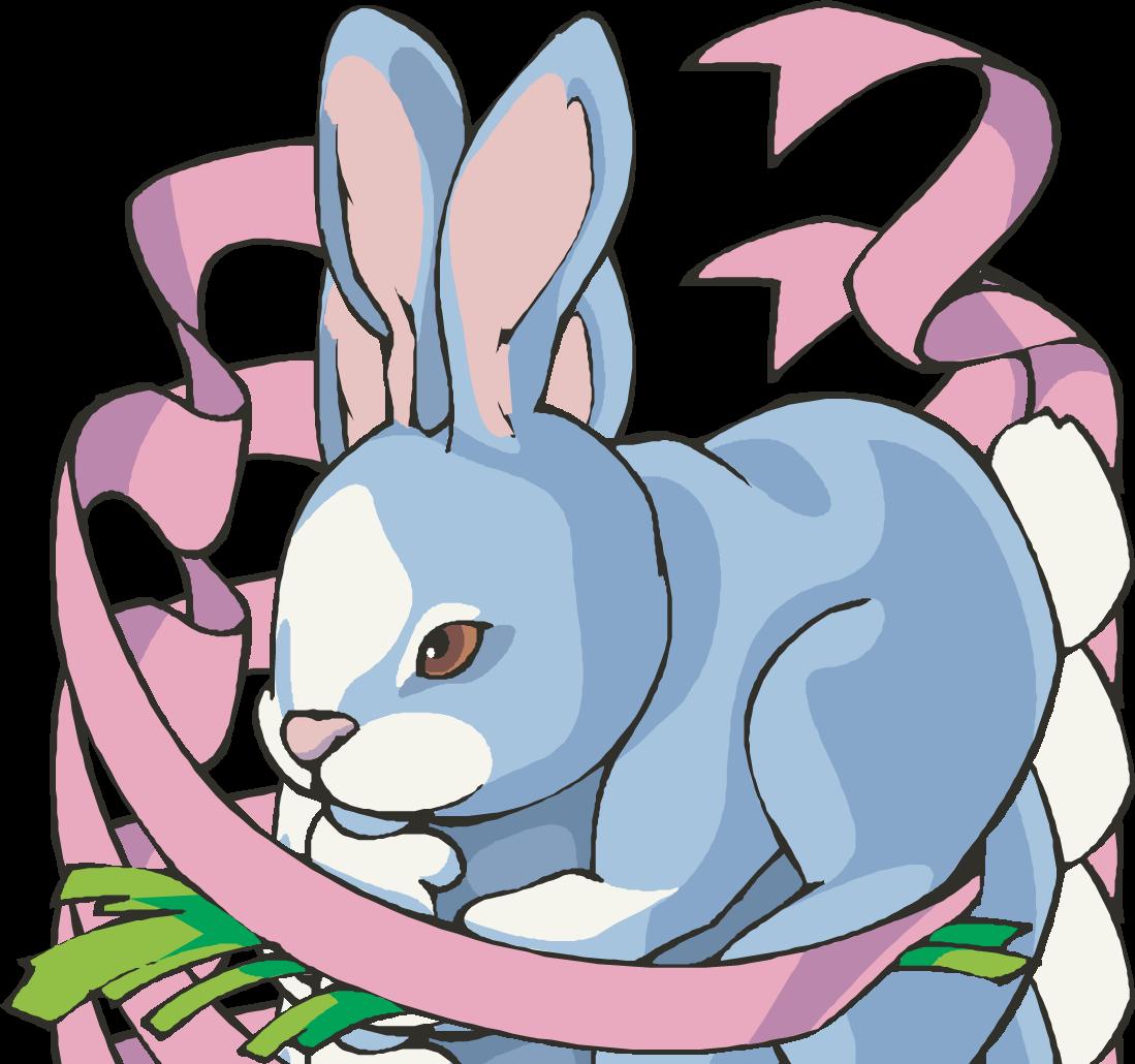 Hop clipartix. Bunny clipart modern
