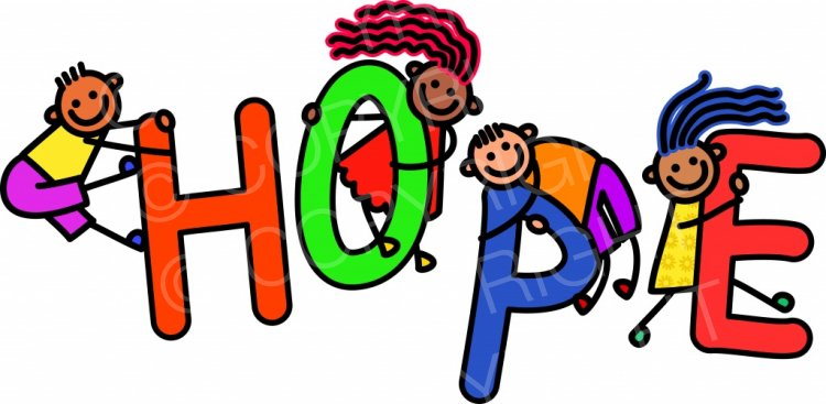 Kids toddler title text. Hope clipart
