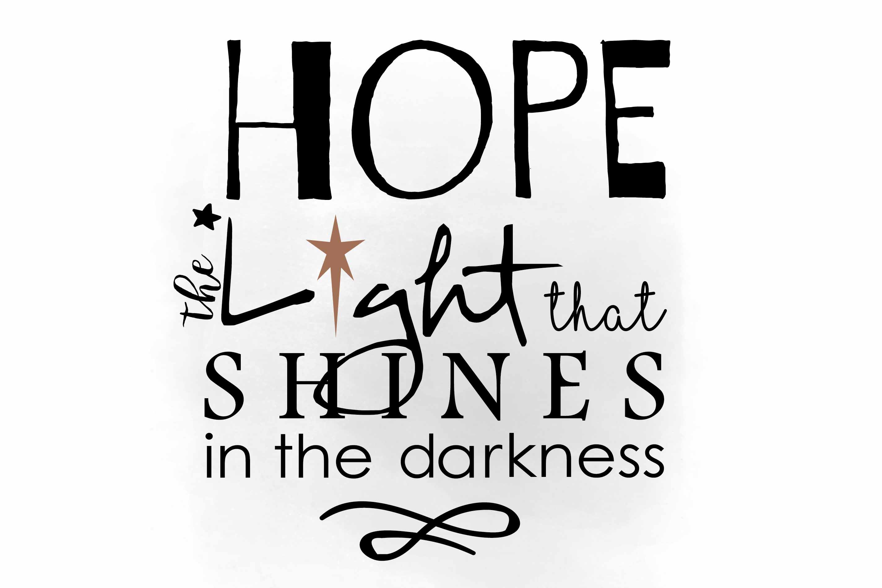 Hope clipart. Svg inspirational quote w