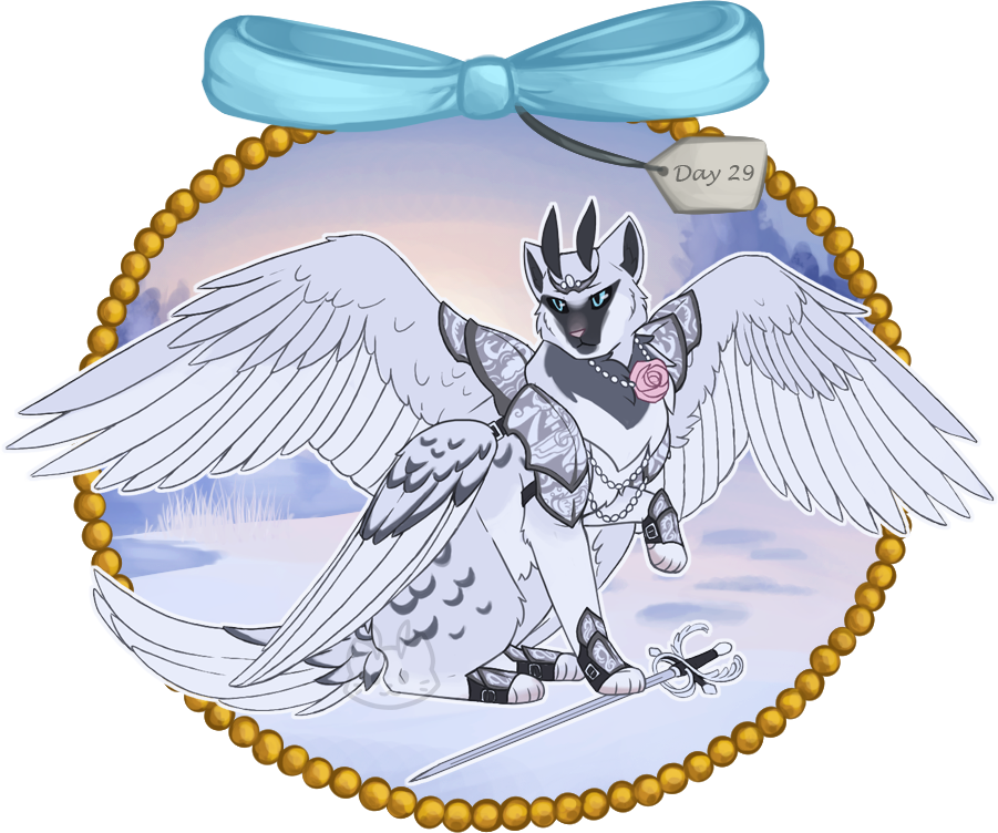 Winter day swan prince. Hope clipart advent week 1