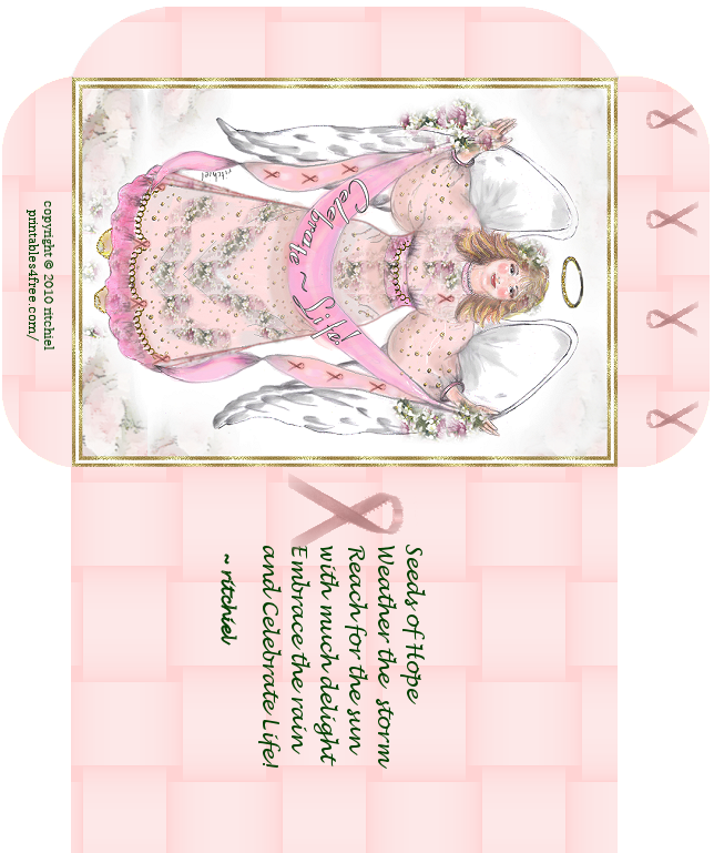 Awareness seed packet with. Hope clipart breast cancer