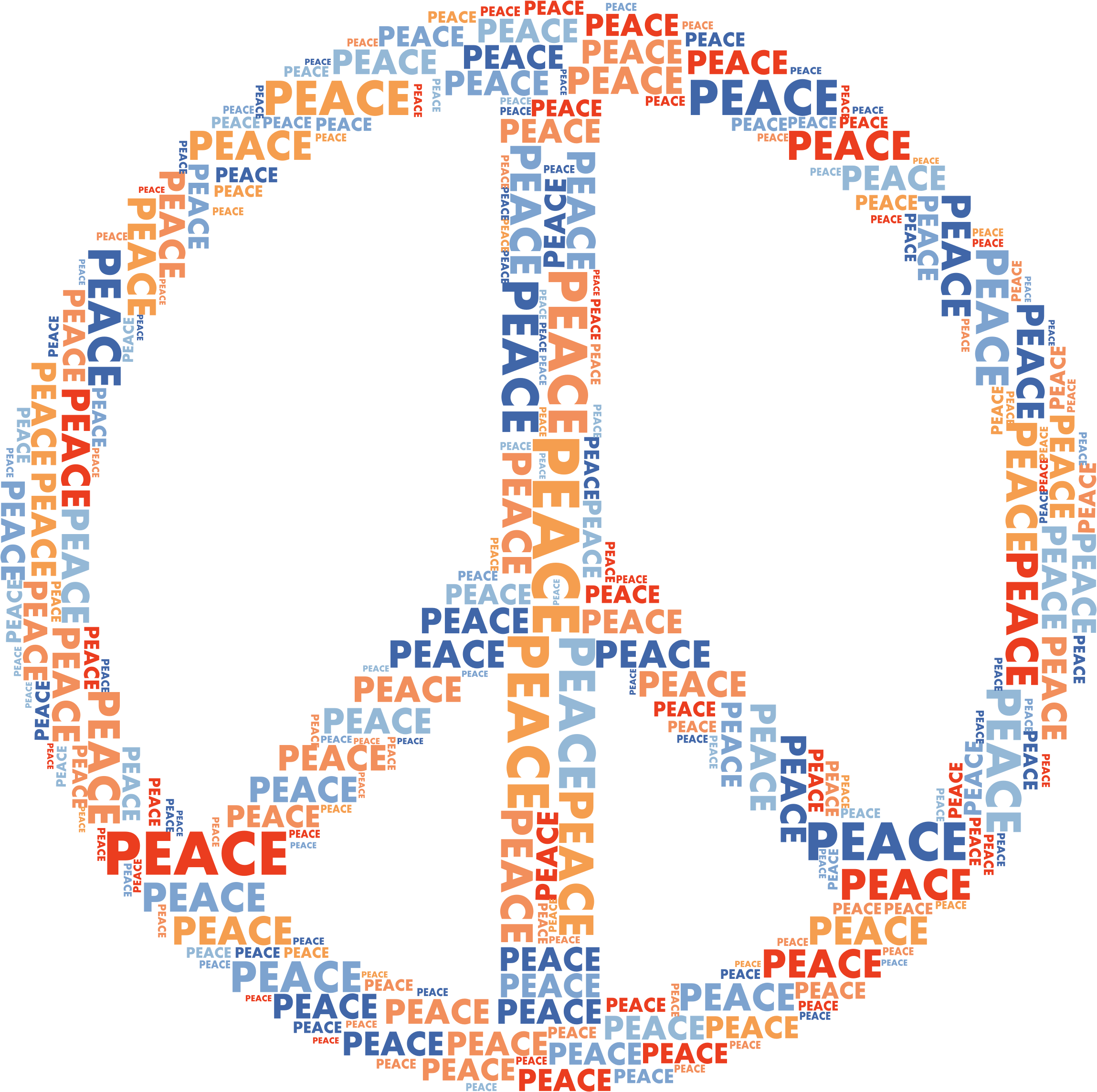 Words clipart peace. Text symbol sign image