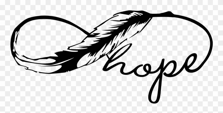 Hope clipart transparent. Always feather