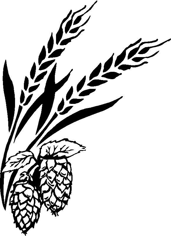 Barley and . Hops clipart