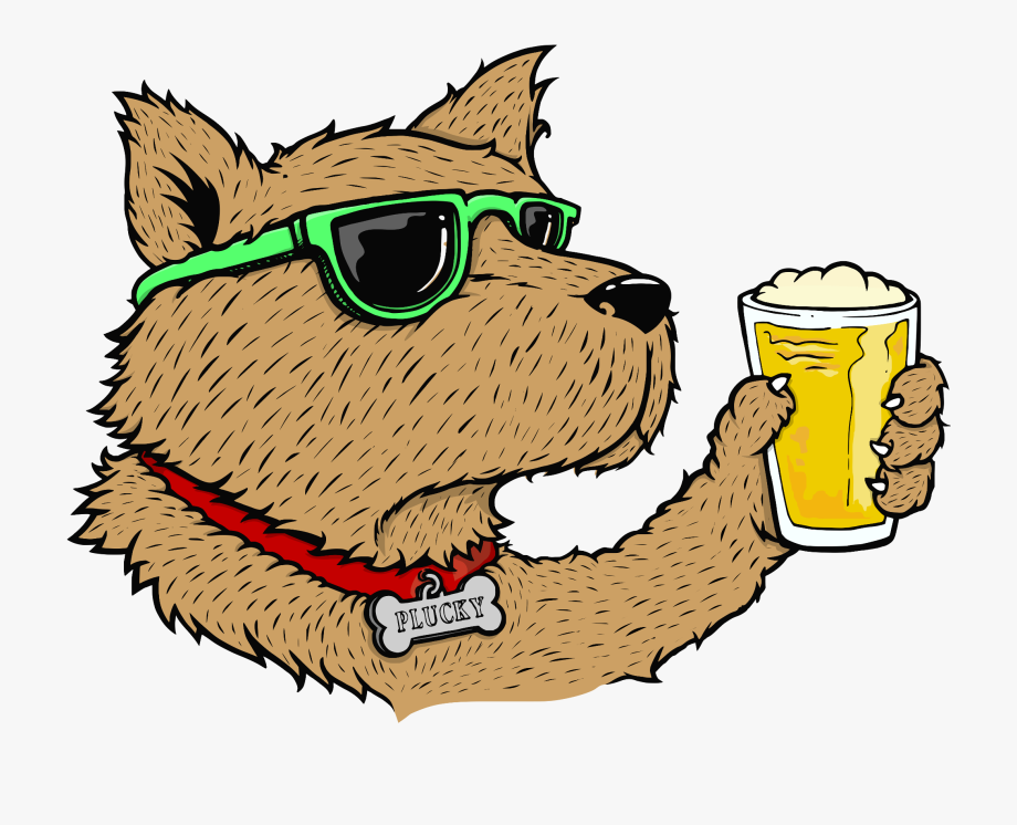 Plucky underdog logo simply. Hops clipart animal hop