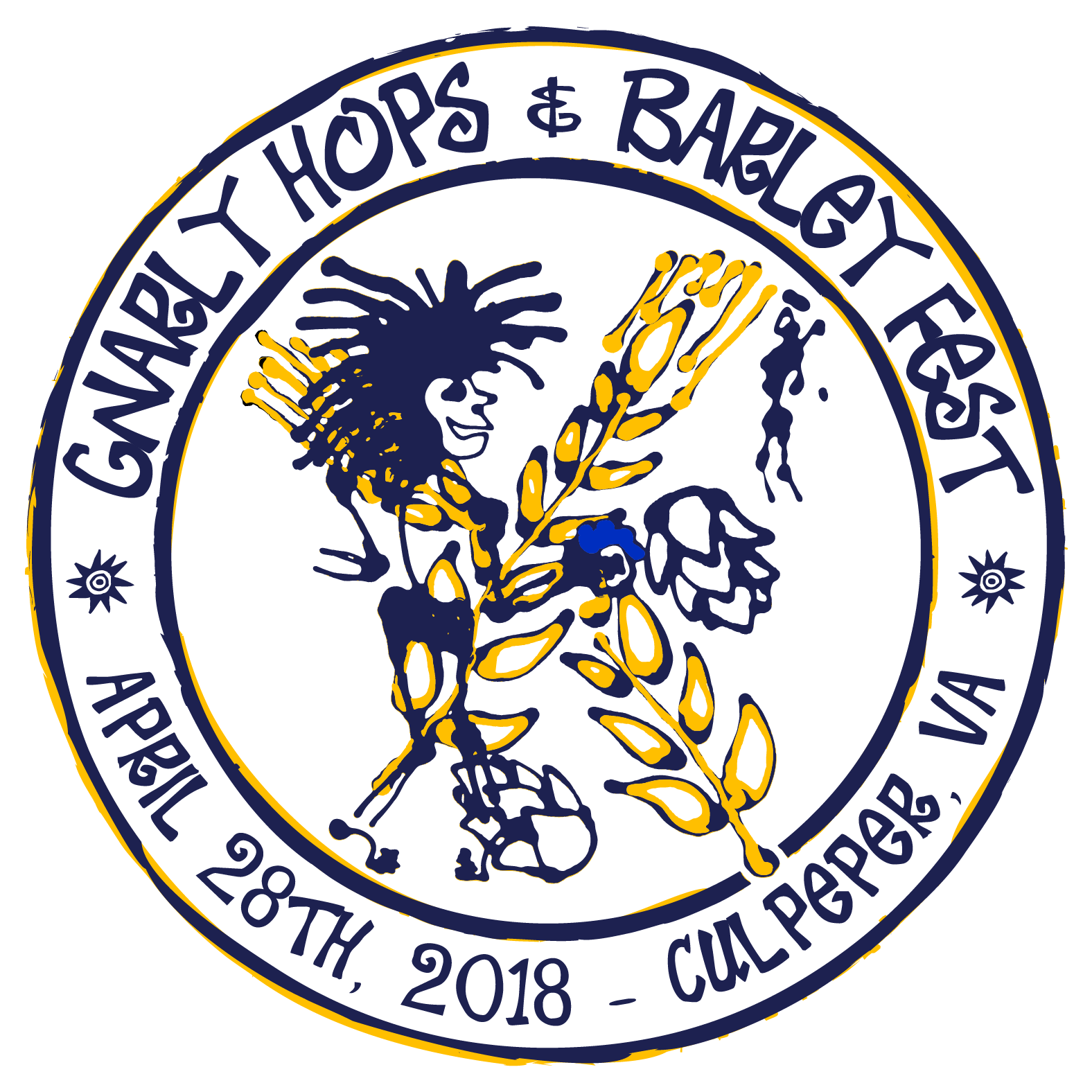 Hops clipart barley. Gnarly fest sixth annual