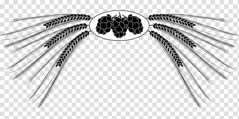 Hops clipart barley. Beer black and white