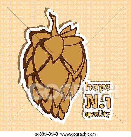 Stock illustration number quality. Hops clipart beer ingredient