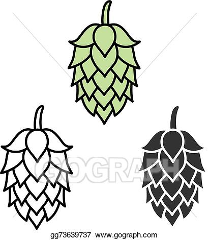 Hops clipart beer logo. Clip art vector hop