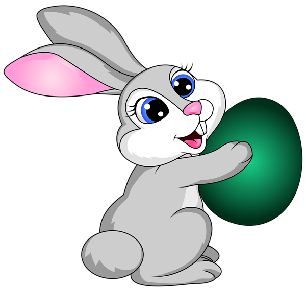 Easter bunny with egg. Hunting clipart rabbit hunting