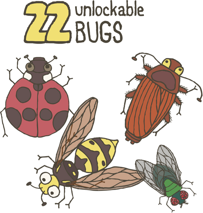 Hops clipart educational game.  smash bugs is