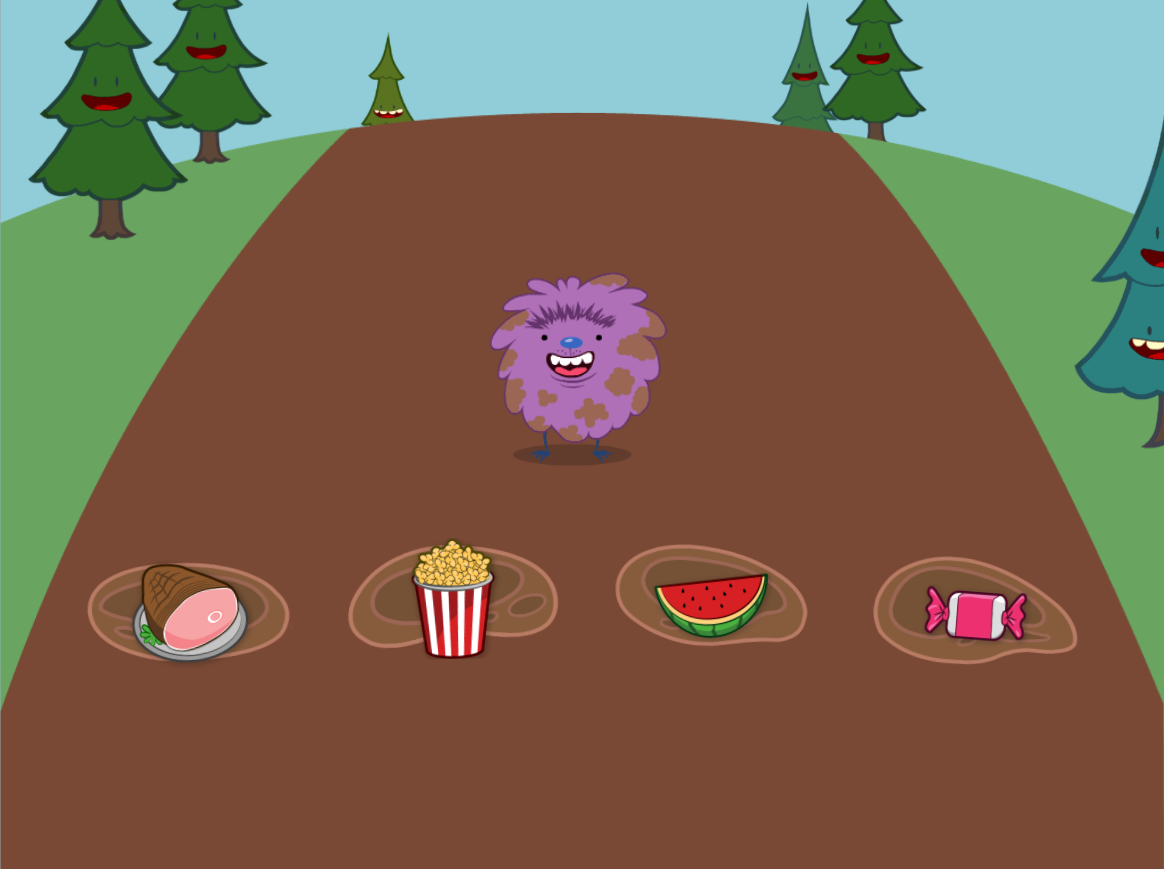 Biggest and smallest mud. Hops clipart educational game