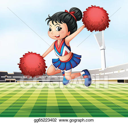 Hops clipart energetic kid. Eps vector a pretty