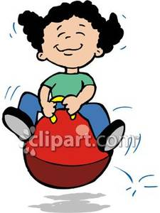 Jumping on a big. Hops clipart happy kid