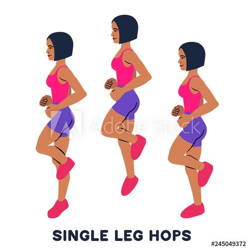 Hops clipart leg. Single jumps sport exersice