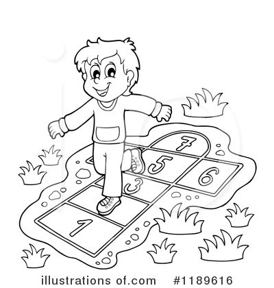 Hopscotch illustration by visekart. Hops clipart playground game