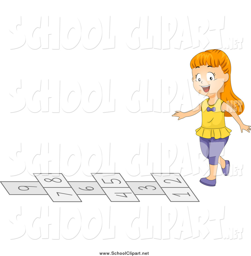 Clip art of a. Hops clipart playground game