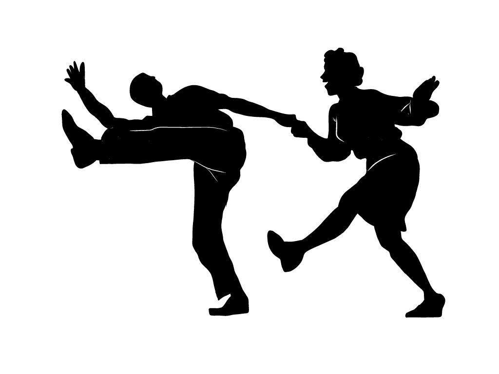 Hops clipart silhouette. Lindy hop at getdrawings