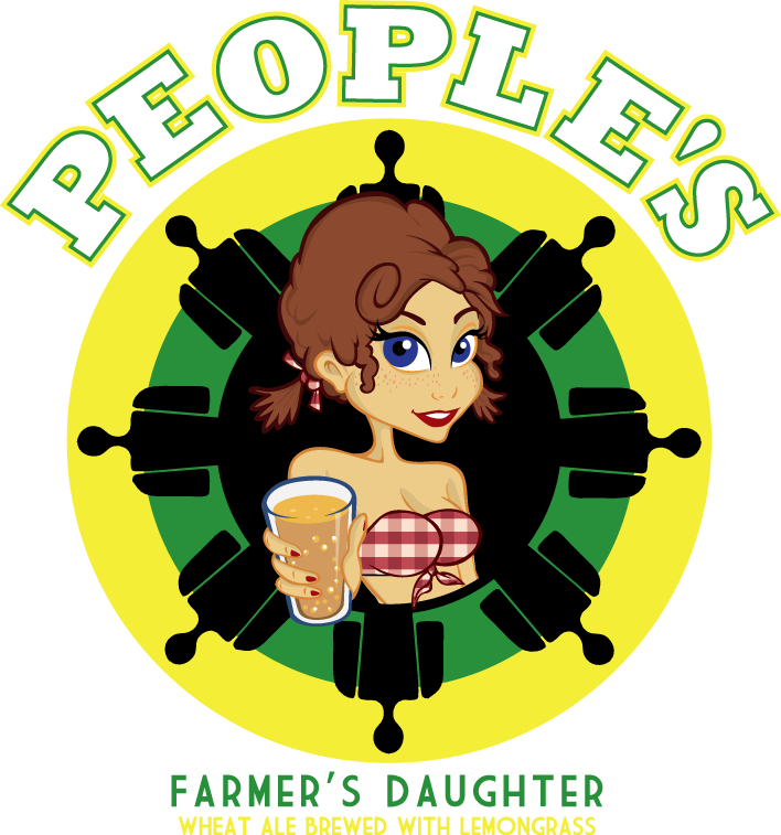 People s brewing company. Hops clipart wheat