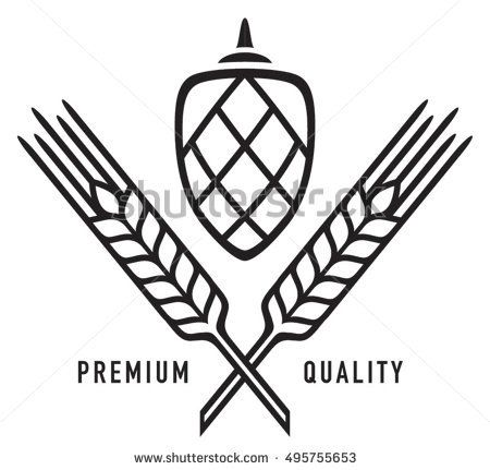 Wheat clipart hop. Hops and barley or