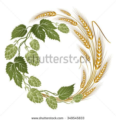 And barley clip art. Hops clipart wreath