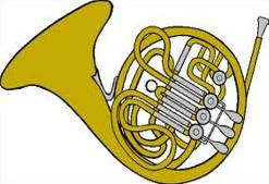 Free french. Horn clipart