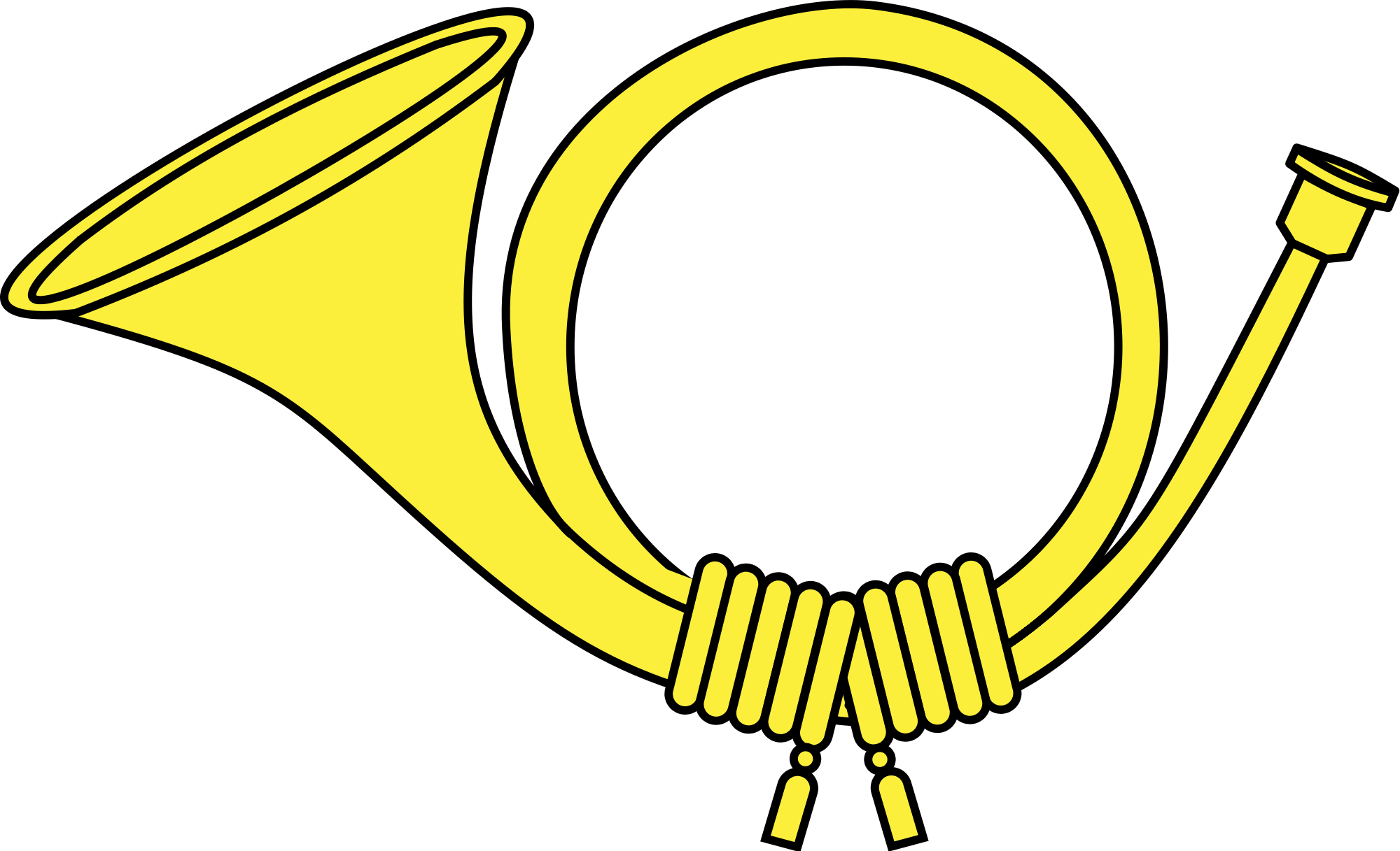Horn clipart. Yellow post transparent png