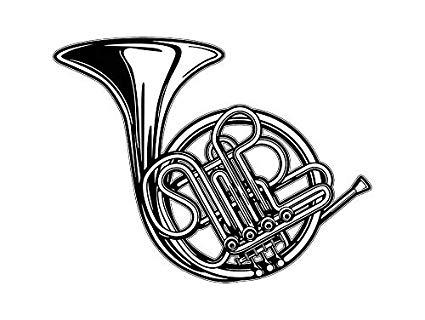 Horn clipart band instrument. Amazon com yetta quiller
