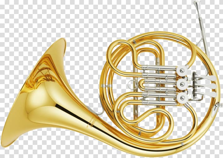 Brass instruments musical french. Horn clipart band instrument