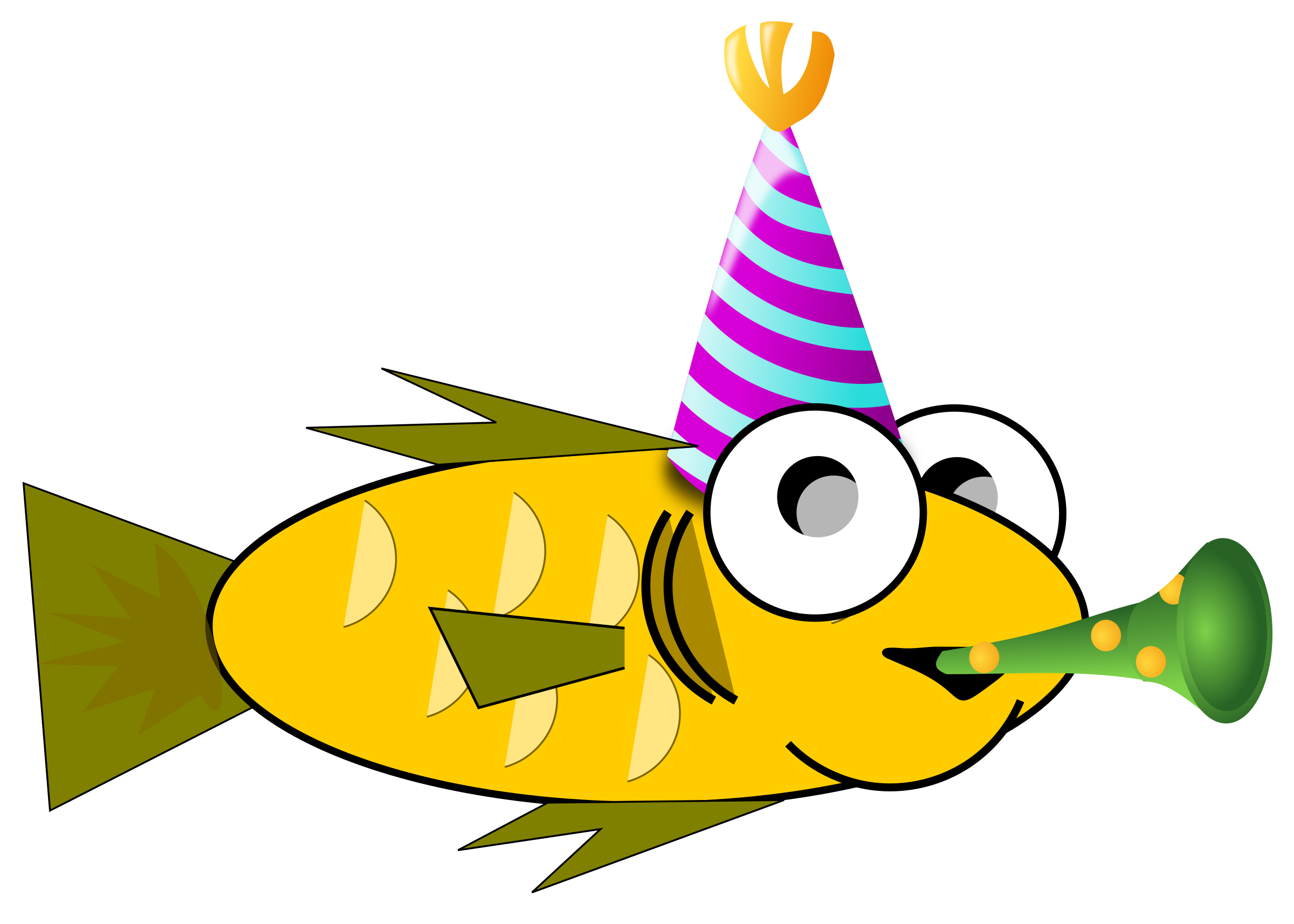 Judas tadeu aniversariante big. Horn clipart birthday