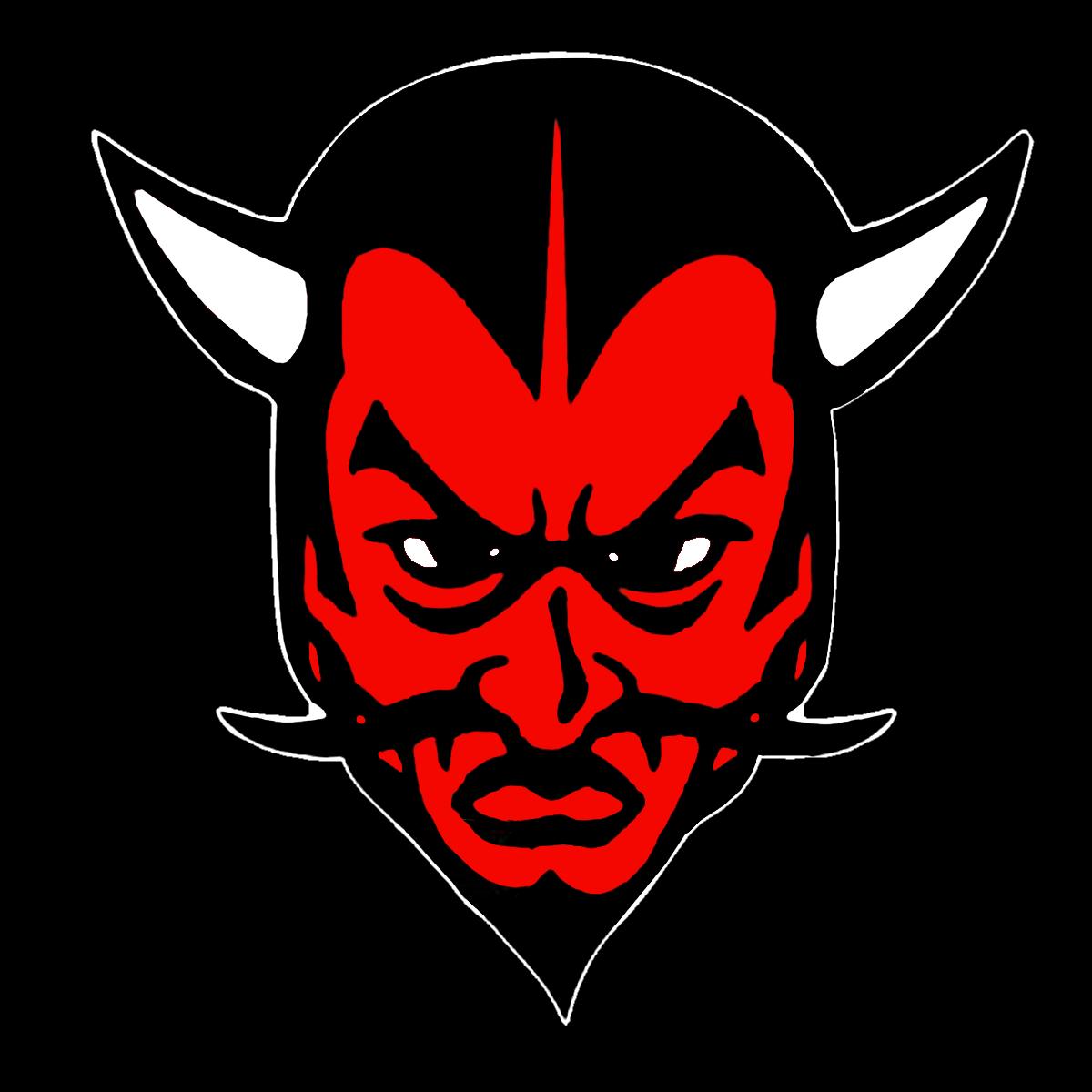 Horn clipart blue devil. The st marys devils