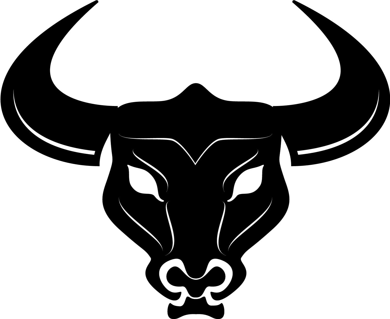 Cattle bull horn clip. Ox clipart horns
