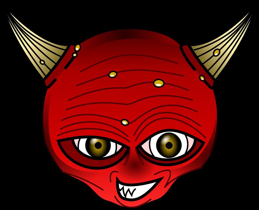 Satanism demon horns pencil. Horn clipart cartoon
