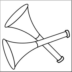 New year party horns. Horn clipart clip art