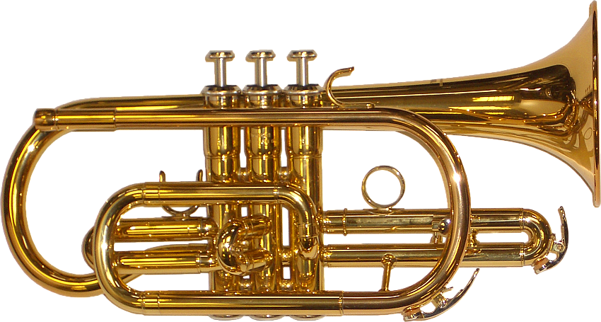 Jazz clipart cornet. Brass band instrument png