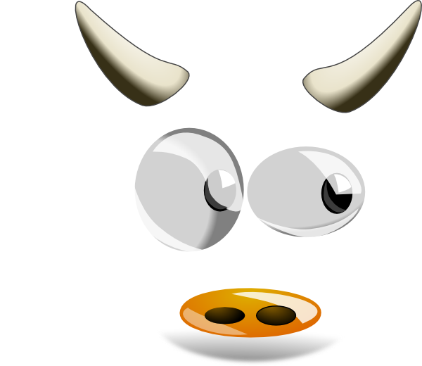Horn cow horn