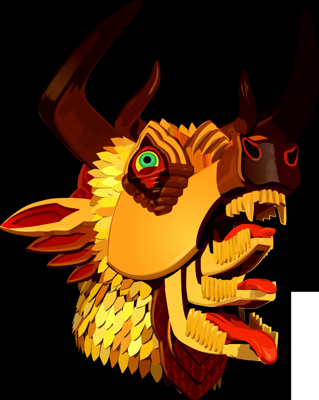 Mastodon the hunter album. Horn clipart demon horn