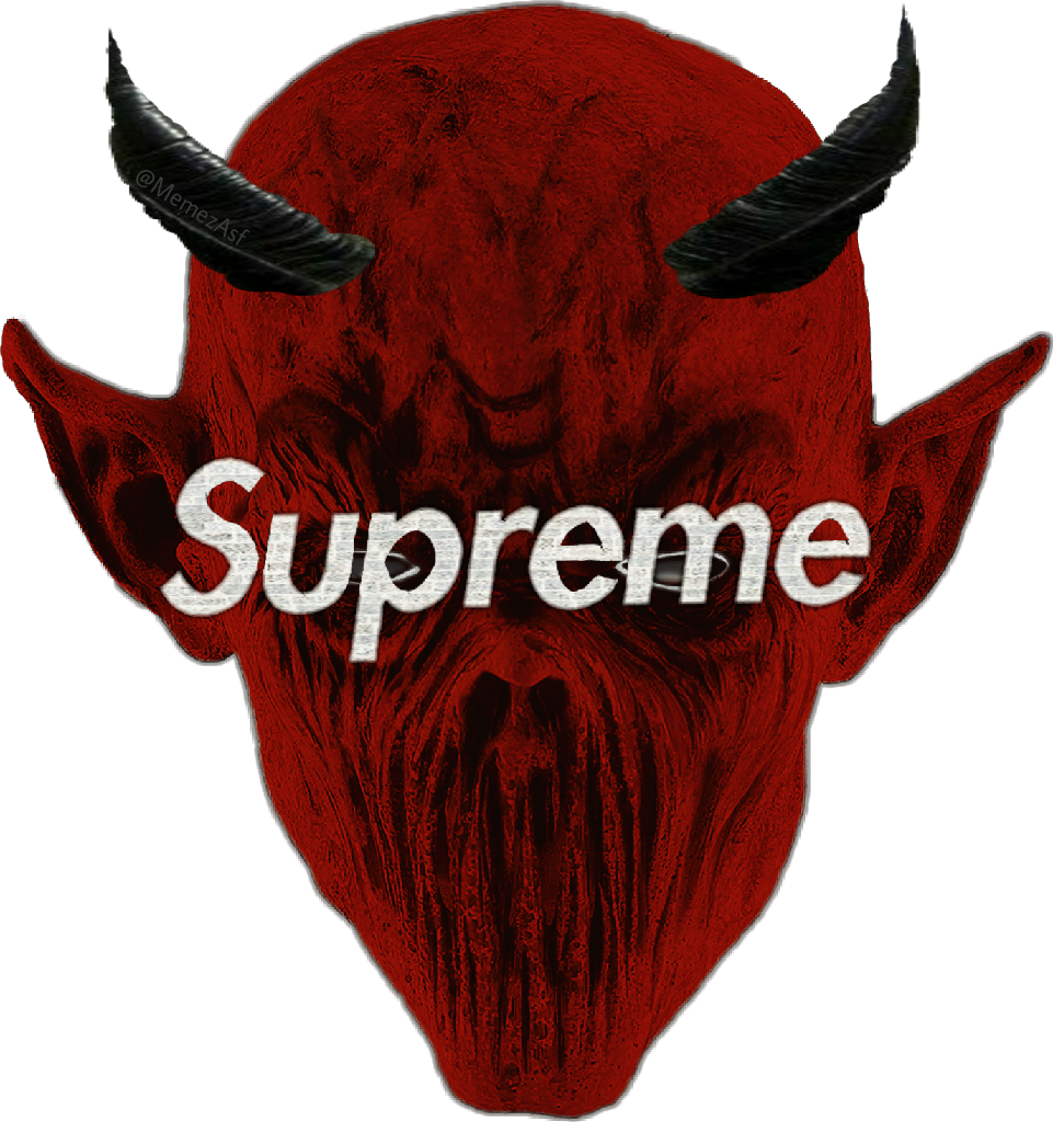Supreme horns devil logo. Horn clipart demon horn